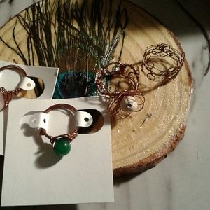 Copper and Gemstones rings